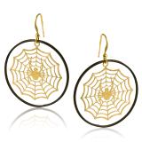 Kolczyki modowe z pajęczynką