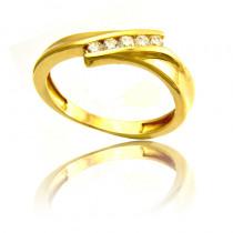 Elegancki złoty pierścionek Prezent Grawer GRATIS
