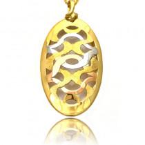 Oryginalna wielobarwna złota zawieszka