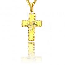 Złoty błyszczący krzyżyk