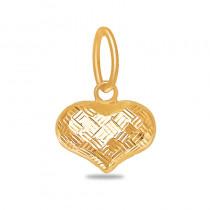 Dwustronna złota zawieszka Serce z połyskującą powierzchnią