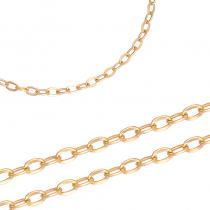 Elegancki złoty łańcuszek o błyszczącej powierzchni Prezent Grawer GRATIS