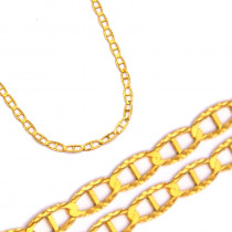 Złoty łańcuszek diamentowany splot Gucci