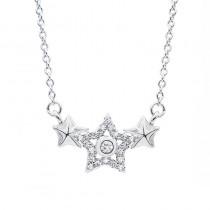Srebrny naszyjnik gwiazdki