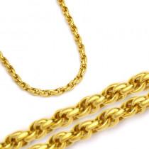 Złoty łańcuszek z żółtego złota