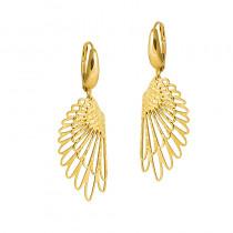 Złote kolczyki modne Skrzydła Grawer GRATIS