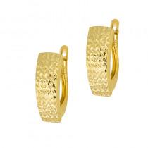 Złote kolczyki z efektownym diamentowaniem Grawer GRATIS
