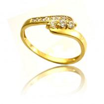 Subtelny złoty pierścionek Prezent Grawer GRATIS