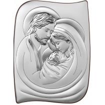 Obrazek srebrny Święta Rodzina Prezent Grawer GRATIS