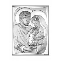 Srebrny obrazek sakralny Święta Rodzina Prezent Grawer GRATIS