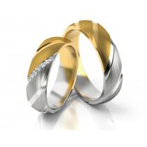 Oryginalne obrączki ślubne złote ciekawie wykończone