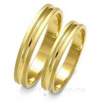 Wąskie stylowe obrączki ślubne