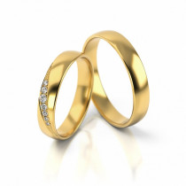 Obrączki ślubne półokrągłe z eleganckim zdobieniem