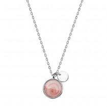 Srebrny naszyjnik z masą perłową