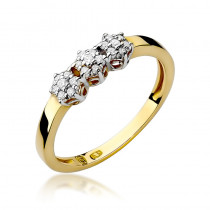 Niespotykany złoty pierścionek zaręczynowy z diamentami