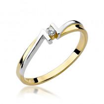 Niespotykany złoty pierścionek z brylantem