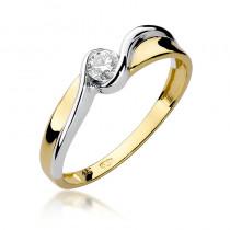 Zachwycający złoty pierścionek zaręczynowy z diamentem