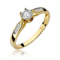 Ekskluzywny złoty pierścionek zaręczynowy wysadzany brylantami
