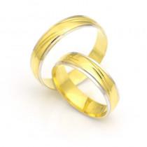 Obrączki ślubne złote z urokliwymi nacięciami