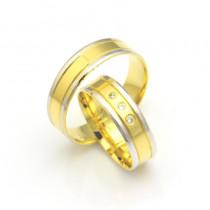 Złote obrączki ślubne dwukolorowe