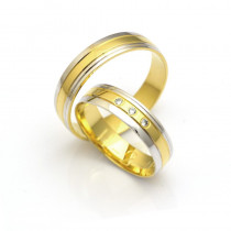 Obrączki ślubne złote ze zdobieniem po bokach