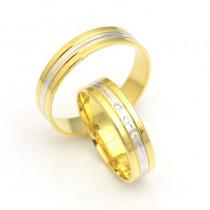 Obrączki ślubne złote delikatnie zdobione