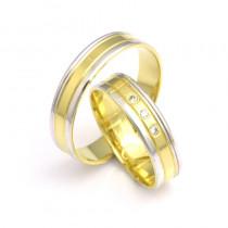 Urocze obrączki ślubne z żółto-białego złota