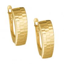 Złote kolczyki diamentowane