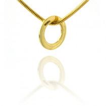 Klasyczna okrągła złota zawieszka