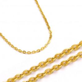 Złoty żółty elegancki łańcuszek