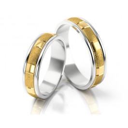 Dwubarwne obrączki ślubne w interesującym stylu